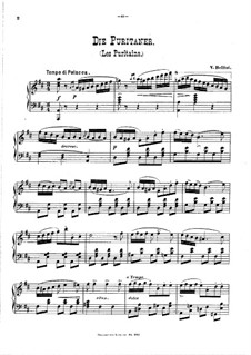 I puritani (The Puritans): Fantasia, for piano by Vincenzo Bellini
