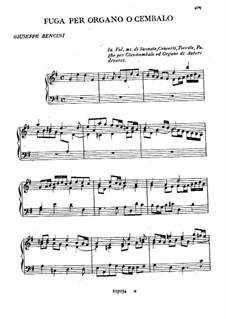 Fugue for Organ (or Harpsichord): Fugue for Organ (or Harpsichord) by Giuseppe Bencini