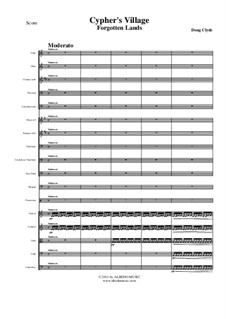 Forgotten Lands: Cypher's Village (Full Orchestra), AMSM44 by Doug Clyde