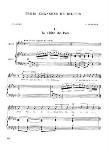 Trois chansons de Bilitis, L.90: Complete set by Claude Debussy