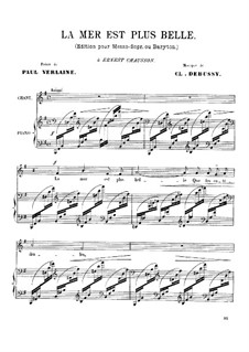 Three Songs, L.81: Complete set by Claude Debussy