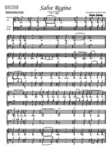 Salve Regina, D.386: Piano-vocal score by Franz Schubert