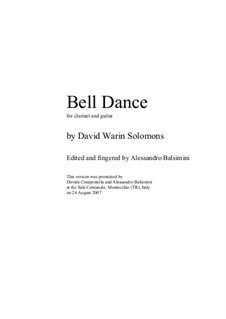 Bell Dance: For clarinet and guitar by David W Solomons