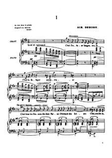 Ariettes oubliées, L.60: Complete set by Claude Debussy