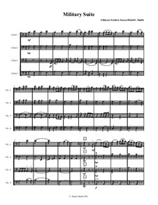 Military Suite for mixed-level cello quartet (or cello ensemble) Sousa, Caissons, Johnny comes marching home: Military Suite for mixed-level cello quartet (or cello ensemble) Sousa, Caissons, Johnny comes marching home by John Philip Sousa, Gustav Holst, Patrick Sarsfield Gilmore