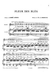 Fleur des blés, L.7: Fleur des blés by Claude Debussy