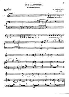 The Voyevoda, TH 1 Op.3: Bastryukov's Aria, for voice and piano by Pyotr Tchaikovsky