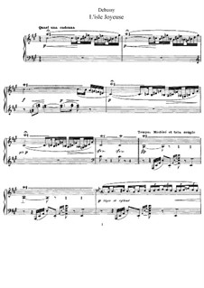L'Isle Joyeuse, L.106: For piano by Claude Debussy