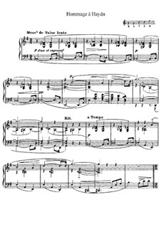 Homage to Haydn, L.115: For piano by Claude Debussy