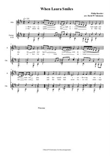 When Laura smiles: For alto (or baritone) and guitar by Philip Rosseter