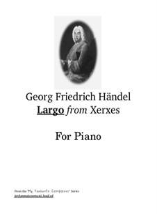 Largo: For piano by Georg Friedrich Händel
