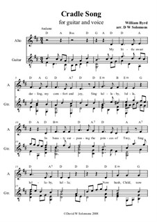 Cradle Song: For alto and guitar by William Byrd