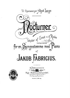 Three Nocturnes: Three Nocturnes by Jacob Fabricius