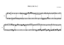Prelude No.2 for piano, MVWV 82: Prelude No.2 for piano by Maurice Verheul