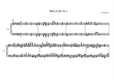 Prelude No.3 for piano, MVWV 83: Prelude No.3 for piano by Maurice Verheul