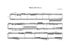 Prelude No.6a for piano, MVWV 86: Prelude No.6a for piano by Maurice Verheul