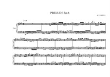 Prelude No.6b for piano, MVWV 87: Prelude No.6b for piano by Maurice Verheul