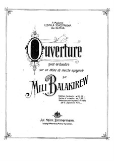 Overture on Spanish March, Op.6: Overture on Spanish March by Mily Balakirev