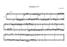 Prelude No.13 for piano, MVWV 95: Prelude No.13 for piano by Maurice Verheul