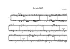 Prelude No.17 for piano, MVWV 101: Prelude No.17 for piano by Maurice Verheul