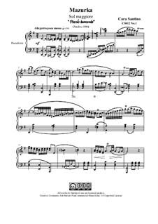Mazurka No.1 in G major for piano, CS012 No.1: Mazurka No.1 in G major for piano by Santino Cara