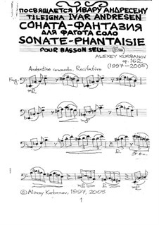 Sonate-Phantaisie pour basson seul, Op.162: Sonate-Phantaisie pour basson seul by Alexey Kurbanov