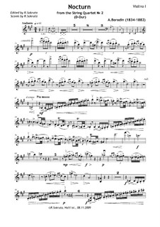 String Quartet No.2 in D Major: Movement III by Alexander Borodin