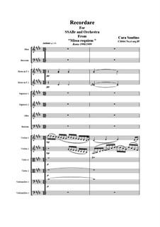 Missa requiem, CS044: No.04 sequenze 05 Recordare by Santino Cara