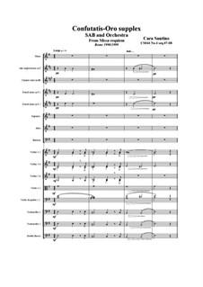 Missa requiem, CS044: No.04 sequenze 07 Confutatis, 08 Oro supplex by Santino Cara
