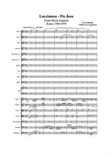 Missa requiem, CS044: No.04 sequenze 09 Lacrimosa, 10 Pie Jesu by Santino Cara