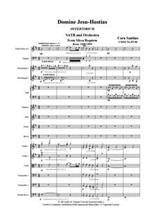 Missa requiem, CS044: No.05-06 Domine Jesu-Hostias by Santino Cara