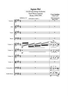 Missa requiem, CS044: No.09 Agnus Dei by Santino Cara