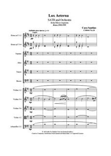Missa requiem, CS044: No.10 Lux Aterna by Santino Cara