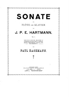 Sonata for Flute and Piano, Op.1: Sonata for Flute and Piano by Johan Peter Emilius Hartmann
