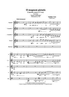 O magnum pietatis, CS052 No.2: O magnum pietatis by Santino Cara