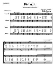 Abendliederzyklus: Die Nacht, Op.001 M: Abendliederzyklus: Die Nacht by Volker Gehring