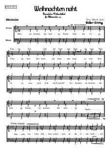 Weihnachtliches: Weihnachten naht, Op.005 Nr.1 M: Weihnachtliches: Weihnachten naht by Volker Gehring
