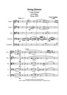 String Quintet 'Little Prelude', CS085: String Quintet 'Little Prelude' by Santino Cara