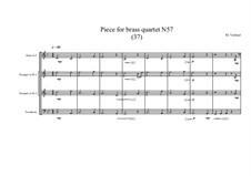 Piece for brass quartet No.57 (37), MVWV 160: Piece for brass quartet No.57 (37) by Maurice Verheul