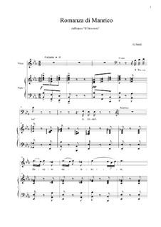 Romanza di Manrico: Romanza di Manrico by Giuseppe Verdi
