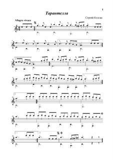 Tarantella: For guitar by Sergej Kolgan