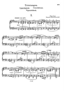Consolations, S.172: Complete set by Franz Liszt