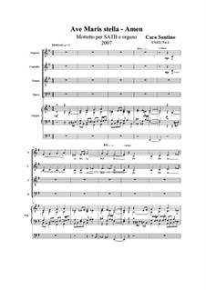 Ave Maris stella. Motet for SATB and organ, CS121 No.1: Ave Maris stella. Motet for SATB and organ by Santino Cara