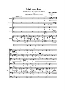 Exivit cum Jesu. Motet for SATB and organ, CS121 No.2: Exivit cum Jesu. Motet for SATB and organ by Santino Cara