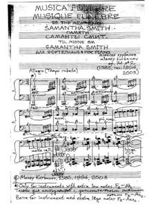 Musica Funebre to the Memory of Samantha Smith, Op.74/II: Musica Funebre to the Memory of Samantha Smith by Alexey Kurbanov
