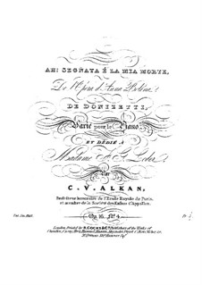 Variations, Op.16: No.4 Variations sur 'Ah ! segnata é la mia morte' by Charles-Valentin Alkan