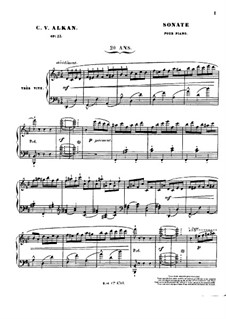 Grand Sonata 'Les quatre âges' (The Four Ages), Op.33: For piano by Charles-Valentin Alkan