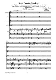 Veni Creato Spiritus. SATB and organ, CS130: Veni Creato Spiritus. SATB and organ by Santino Cara