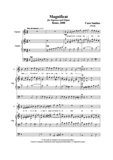 21 Opera Arias and Sacred Arias for Soprano: Magnificat. Soprano and organ, CS144 by Santino Cara