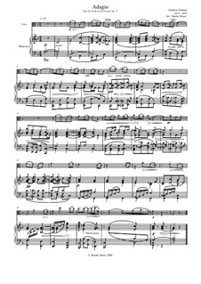 Concerto for Violin and Orchestra in D Major, Op.77: Adagio, for viola and piano by Johannes Brahms